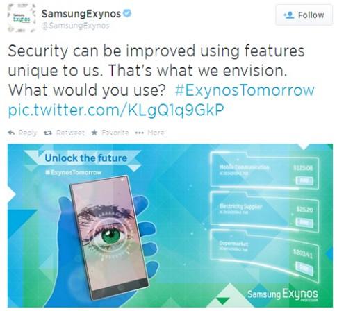 Samsung tung ảnh ẩn ý về smartphone có thể quét võng mạc
