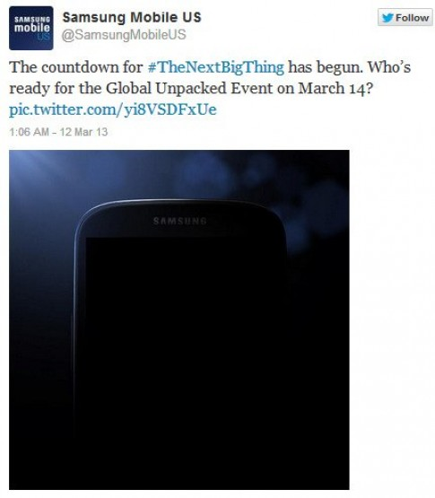 Samsung tung hình ảnh ẩn ý về Galaxy S IV