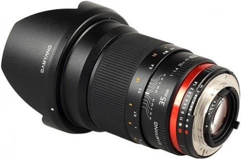 Samyang ra ống kính 35mm f/1.4 cho máy Canon và Nikon