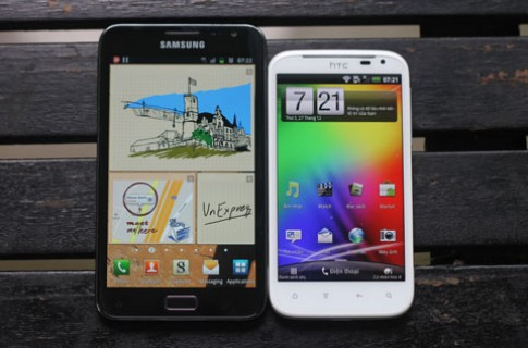Sensation XL vs. Galaxy Note