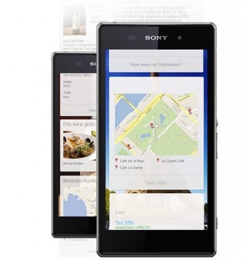 Smartphone 20 'chấm' của Sony để lộ ảnh quảng cáo