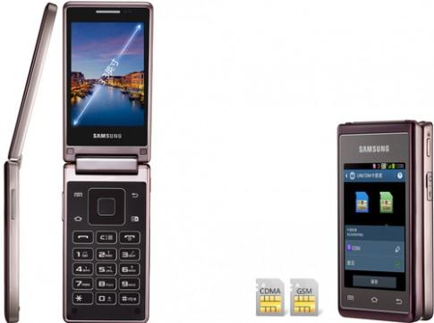 Smartphone Android nắp gập 2 màn hình của Samsung trình làng
