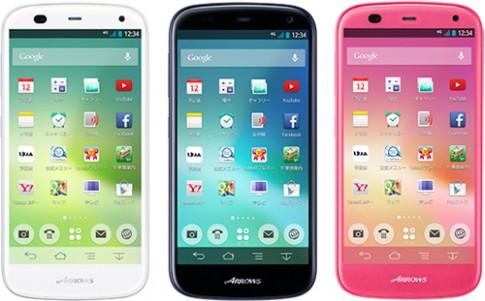 Smartphone Fujitsu Arrows A với thời lượng pin 3 ngày