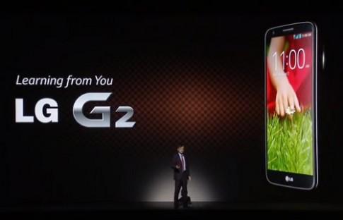 Smartphone G2 cao cấp nhất của LG trình làng với màn hình 5,2 inch
