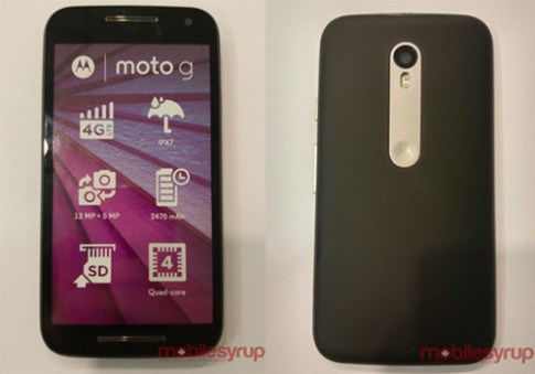 Smartphone giá rẻ Moto G 2015 có tính năng chống nước