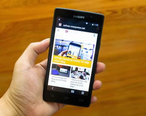 Smartphone lõi tứ màn hình 5 inch giá trên 2 triệu đồng