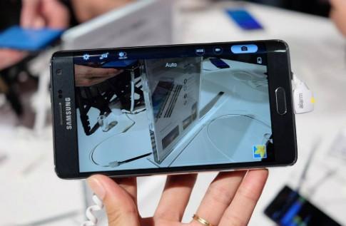 Smartphone màn hình cong ở viền, Galaxy Note Edge, về VN
