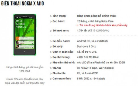 Smartphone Nokia chạy Android sẽ có giá hơn 2 triệu đồng