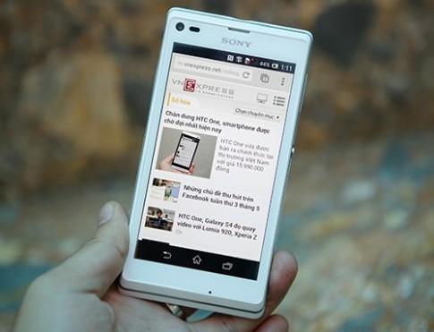 Smartphone Sony Xperia L mới thuộc dòng Arc