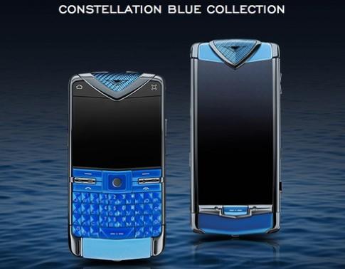 Smartphone Vertu giá hơn 100 triệu đồng thêm màu xanh dương