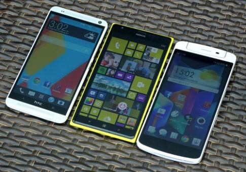 So sánh bộ ba smartphone Full HD khổng lồ