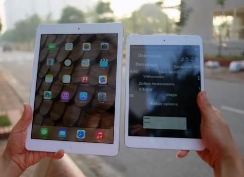 So sánh iPad Air với iPad Mini và iPad thế hệ 4