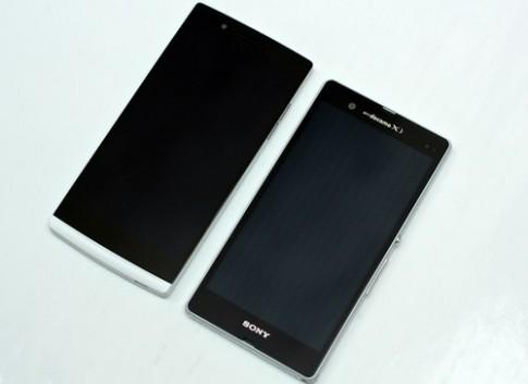 So sánh kiểu dáng Sony Xperia Z và Oppo Find 5
