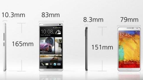 So sánh One Max với Galaxy Note 3