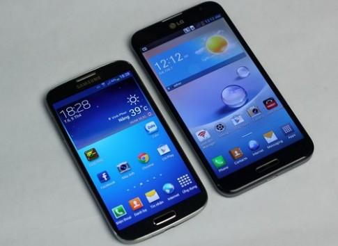 So sánh thiết kế của Galaxy S4 và Optimus G Pro