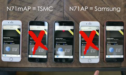 So sánh thực tế iPhone 6s dùng chip Samsung và TSMC