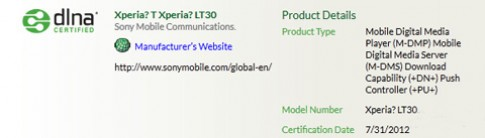 Sony để lộ smartphone Xperia T