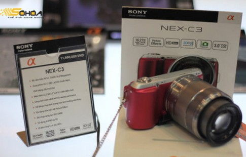 Sony NEX-C3 giá 12 triệu kèm ống kit