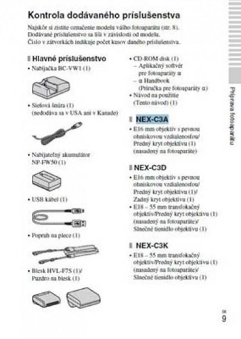 Sony NEX-C3 lộ sách hướng dẫn sử dụng