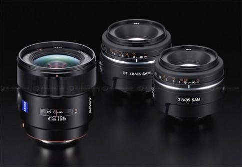 Sony ra loạt ống kính khủng