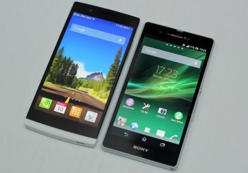 Sony Xperia Z đọ dáng với Oppo Find 5