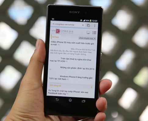 Sony Xperia Z1 về Việt Nam đầu tháng 10