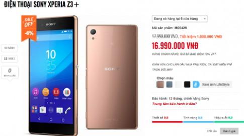 Sony Xperia Z3 chính hãng giảm giá 1 triệu đồng