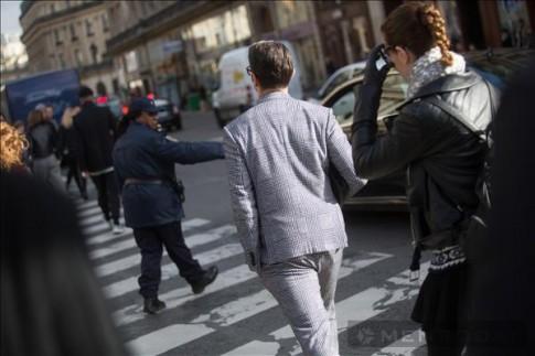Street style các quý ông New York, Paris đầu tháng 3