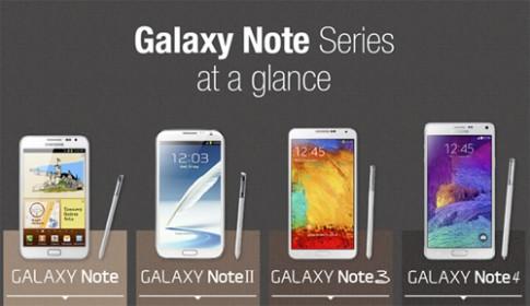 Sự khác biệt của các thế hệ Galaxy Note