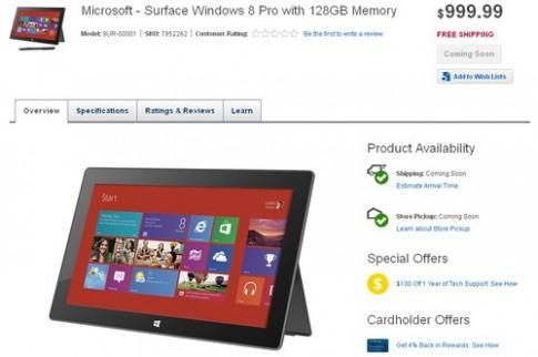 Surface Pro xuất hiện trên Best Buy