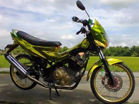 Suzuki raider độ kiểng nổi bật và phong cách cùng dán áo sơn chrome