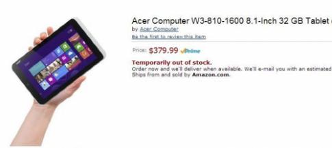 Tablet Acer dùng bộ xử lý Apple A4 giống iPad