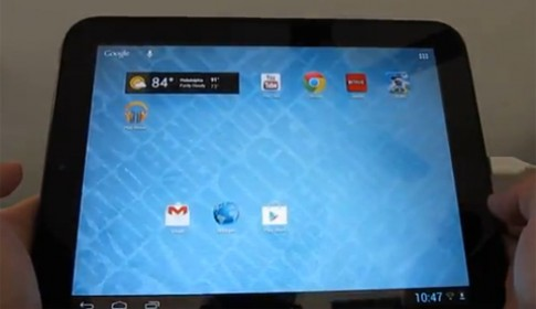 Tablet đã ngừng sản xuất của HP chạy Android 4.1