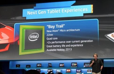 Tablet Windows 8 dùng chip Intel bốn lõi ra mắt cuối năm