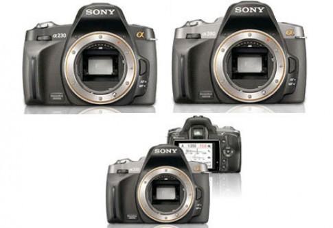 Thêm giá bán bộ ba DSLR Sony Alpha mới