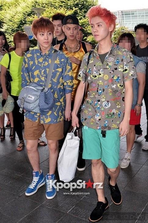 Thời trang sân bay bắt mắt, sành điệu của EXO-M
