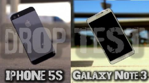 Thử độ bền iPhone 5S và Galaxy Note 3