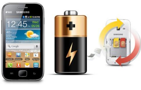 Thử pin smartphone 2 SIM Galaxy Ace Duos