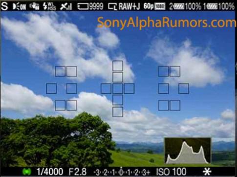 Tính năng của Sony A77 lộ diện qua ảnh viewfinder