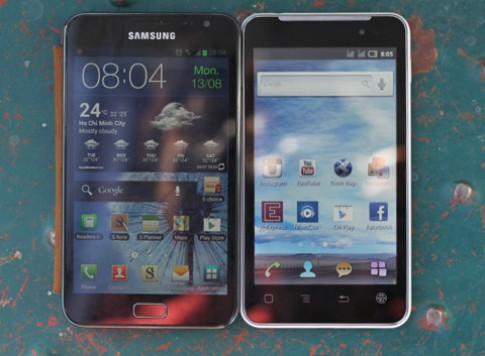 Touch Lai 5.0 vs. Galaxy Note
