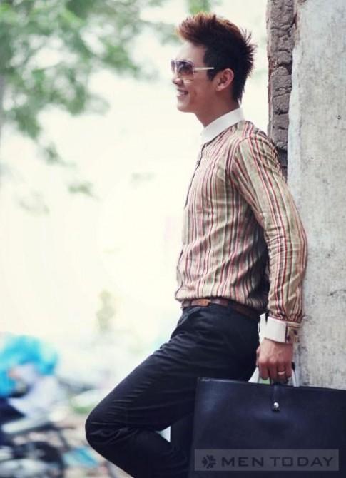 Trang phục đơn giản cho chàng công sở đón thu