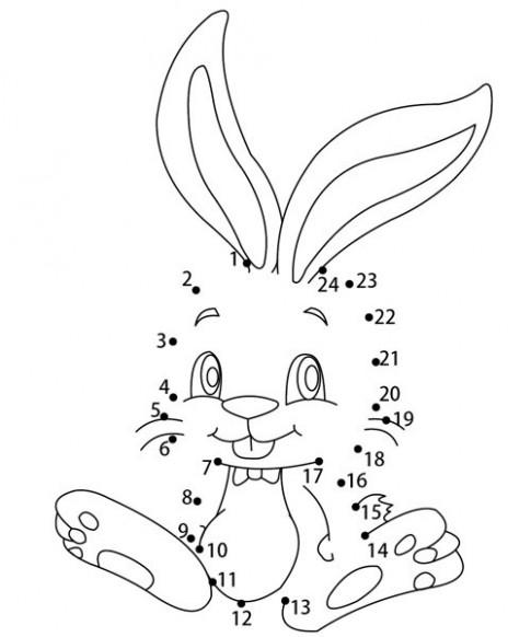 Tranh nối 'Thỏ láu lỉnh'
