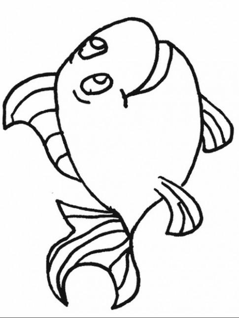 Tranh tô màu 'Con cá'