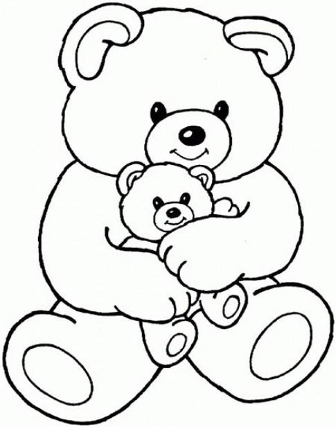 Tranh tô màu 'Hai mẹ con gấu'