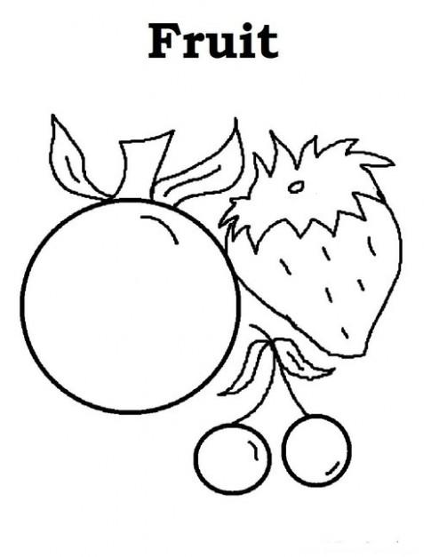 Tranh tô màu 'Trái cây'