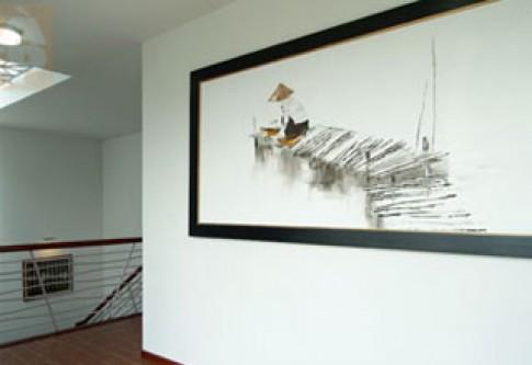Treo tranh vẽ trong nội thất