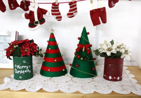 Tự làm cây thông Noel với phiên bản len đẹp tinh tế