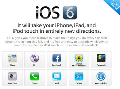 Video sử dụng iOS 6 Beta