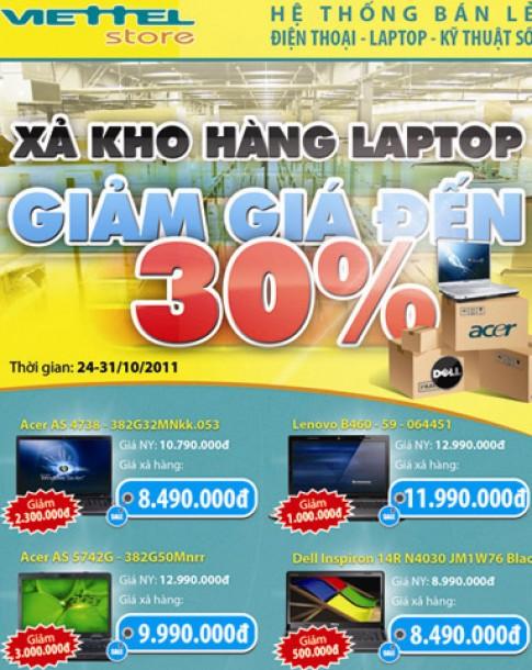 Viettel xả kho hàng laptop