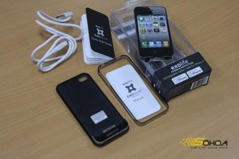 Vỏ bảo vệ kiêm pin rời cho iPhone 4